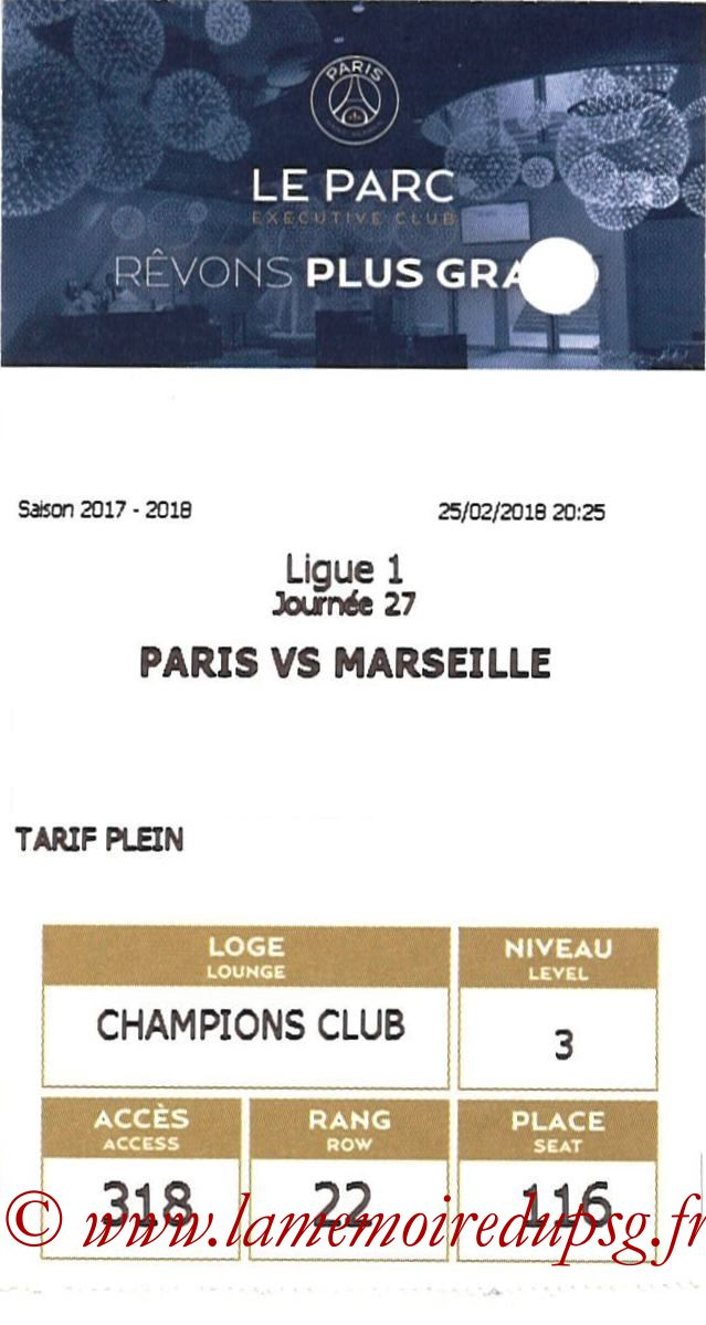 2018-02-25  PSG-Marseille (27ème L1, E-ticket Executive club 2)