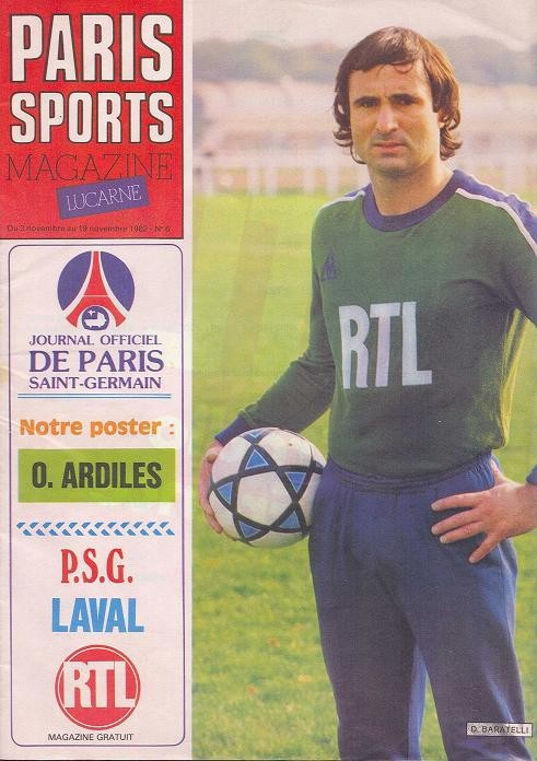 1982-11-06  PSG-Laval (14ème D1, Paris Sports Magazine N°6)
