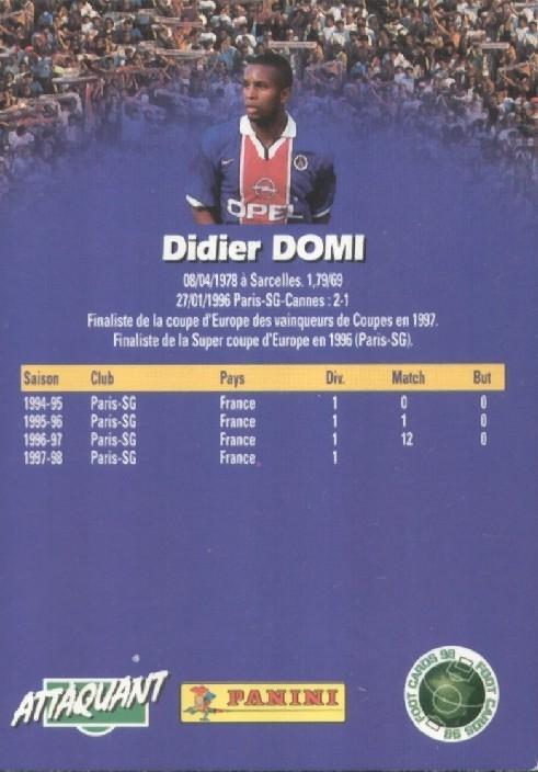 N° 128 - Didier DOMI (Verso)