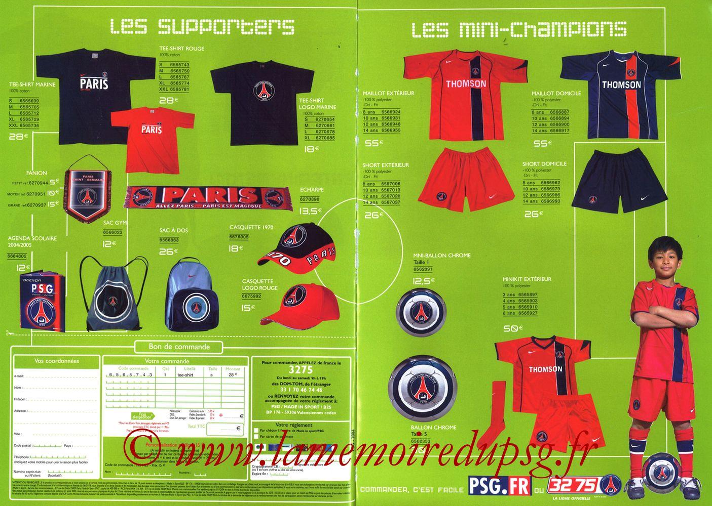 Catalogue PSG - 2004-05b - Pages 06 et 07