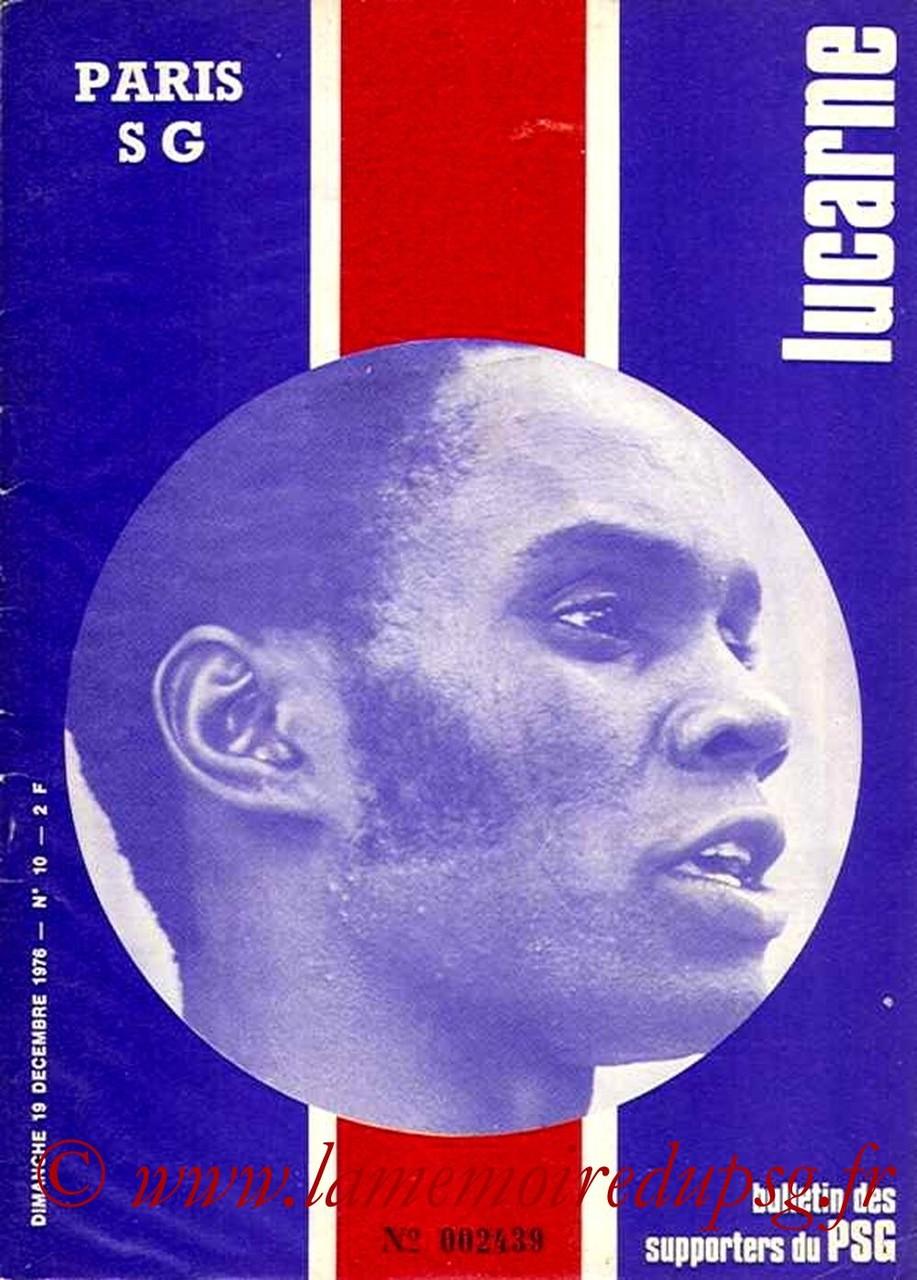 1976-12-19  PSG-Rennes (19ème D1, Lucarne N°10)