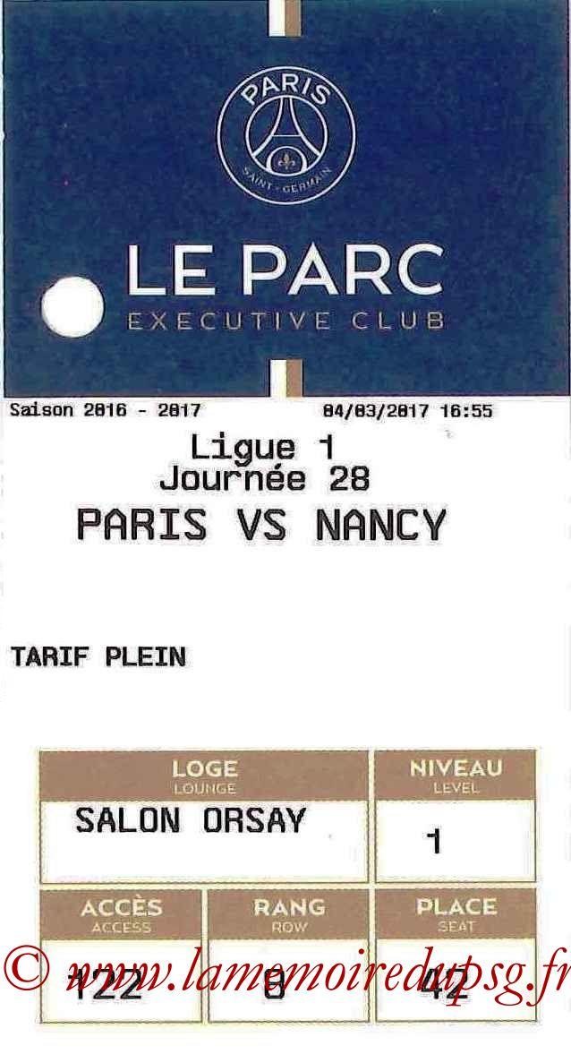 2017-03-04  PSG-Nancy (28ème L1, E-ticket Executive Club)