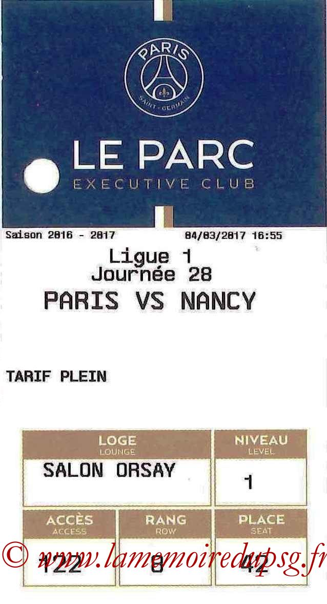2017-03-04  PSG-Nancy (28ème L1, E-ticket Executive Club)