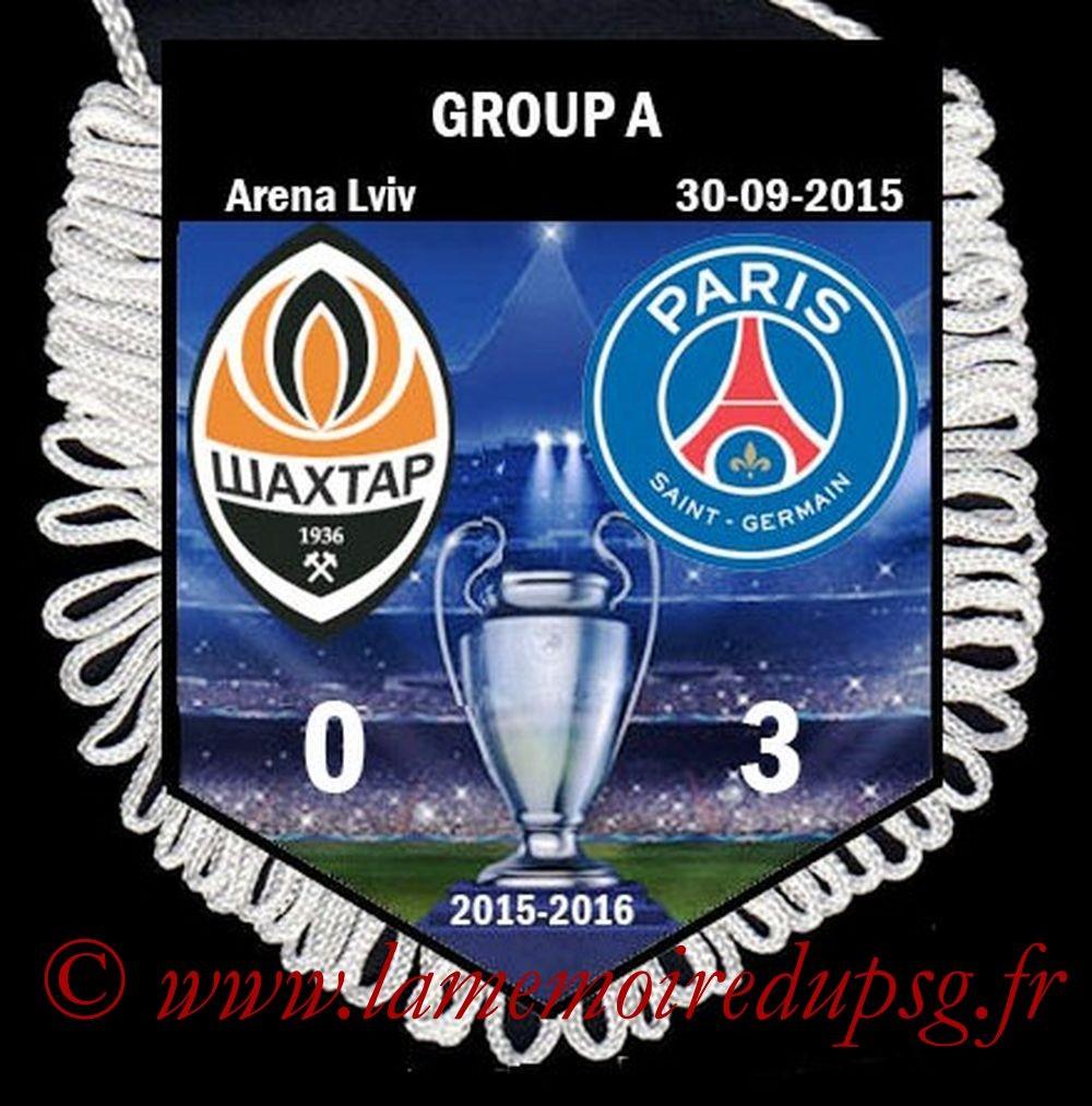 2015-09-30  Shakhtar Donetsk-PSG (2ème C1)
