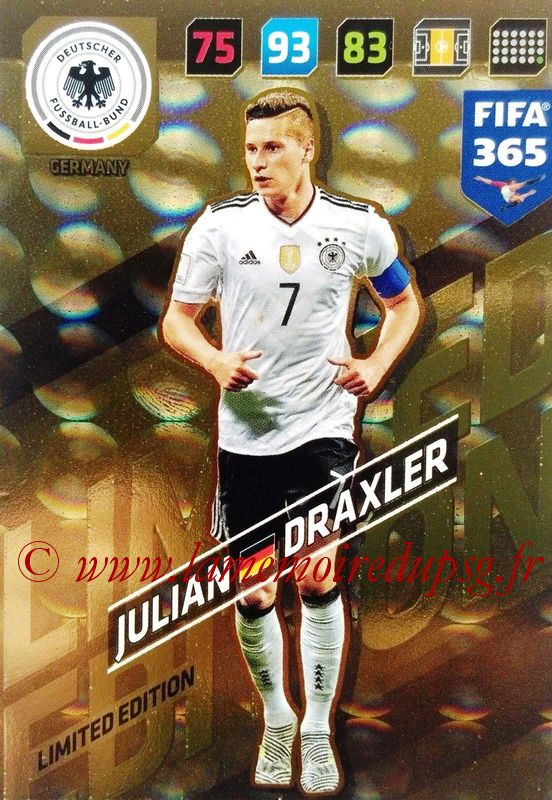 N° LE-JD - Julian DRAXLER (Allemagne) (Limited Edition)