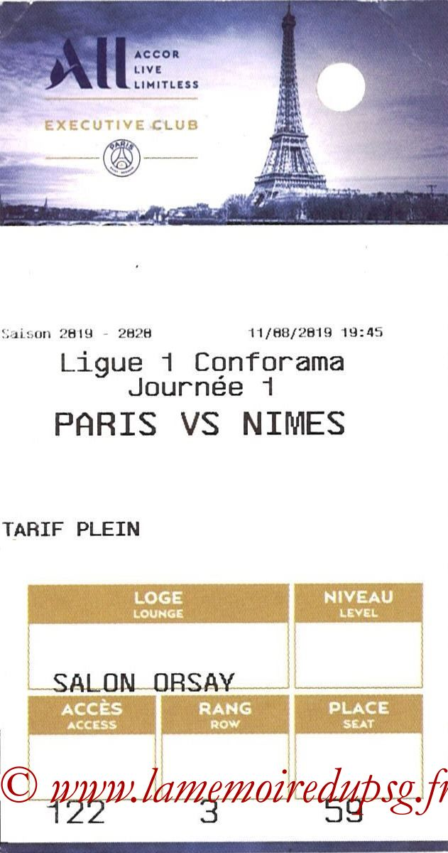 2019-08-11  PSG-Nîmes (1ère L1, E-ticket Executive club)