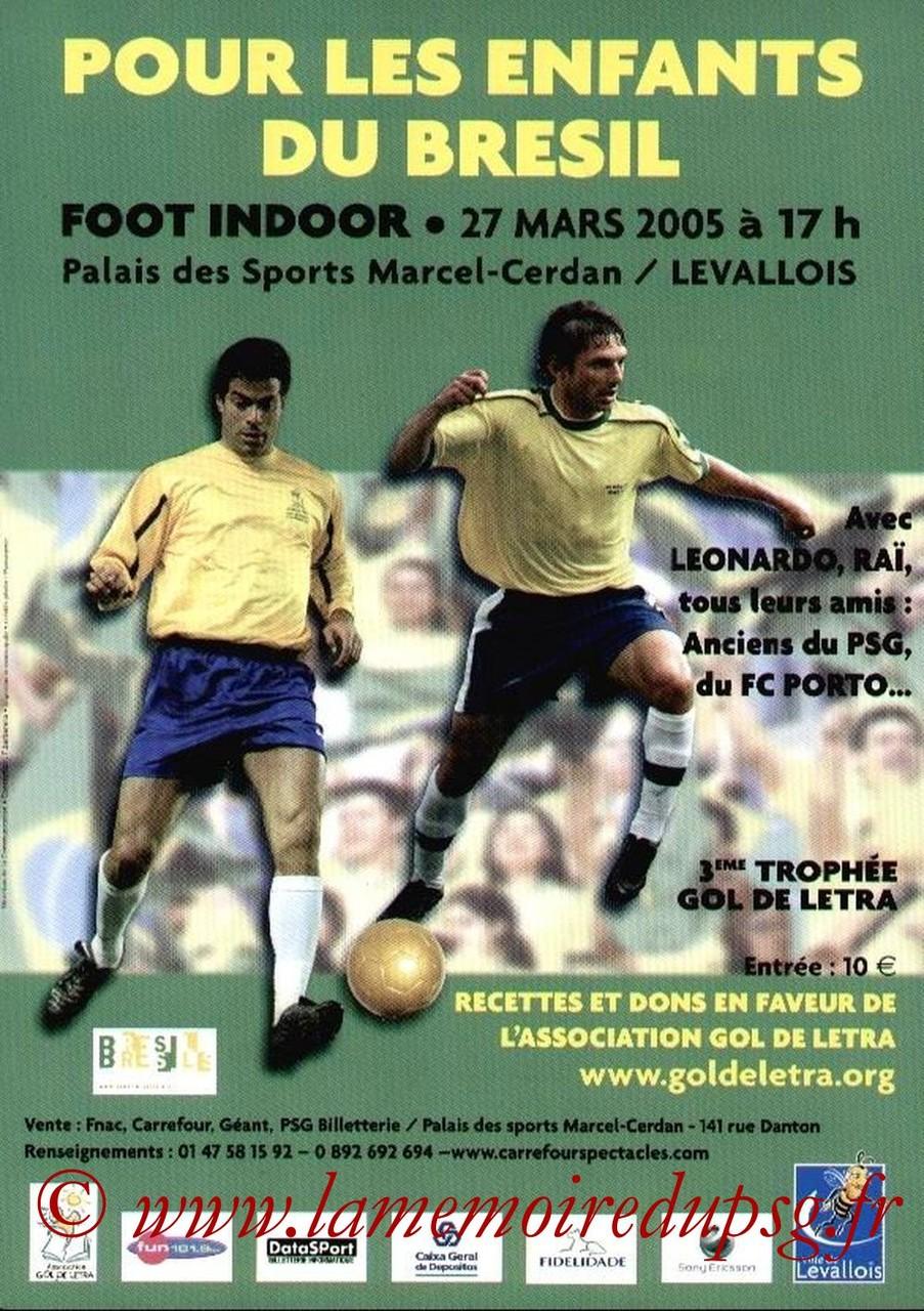 2005-03-27  3eme Gol de Letra (Tournoi amical à Levallois, Affichette)