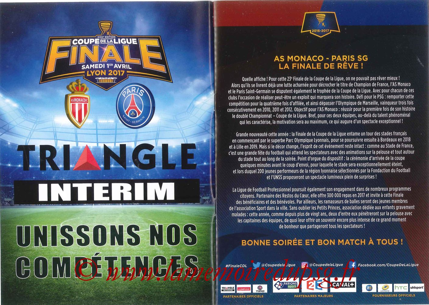 2017-04-01  Monaco-PSG (Finale CL à Lyon, Programme officiel) - Pages 02 et 03