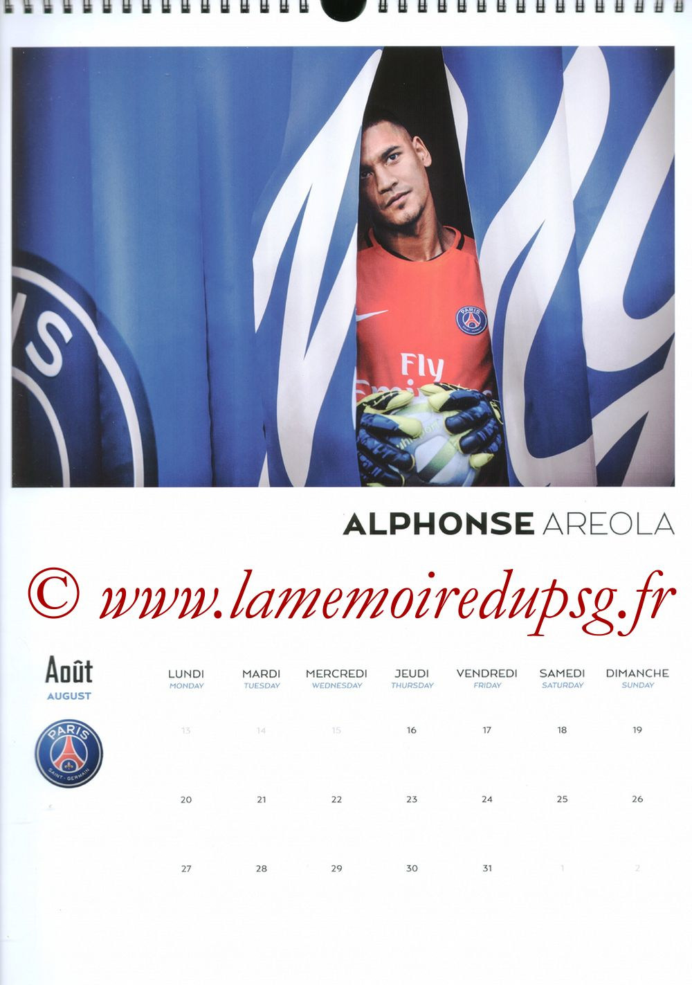 Calendrier PSG 2018 - Page 16 - Alphonse AREOLA
