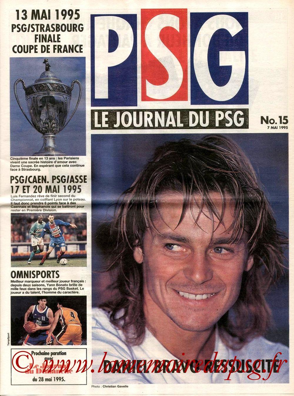 1995-05-17  PSG-Caen (29ème D1, match en retard, Le journal du PSG N°15)