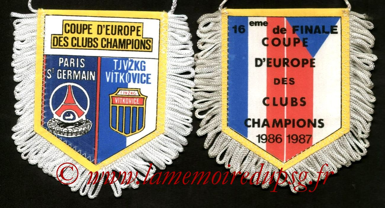 1986 87 coupe des champions la m moire du psg le site des collectionneurs et passionn s du - Coupe d europe des champions ...