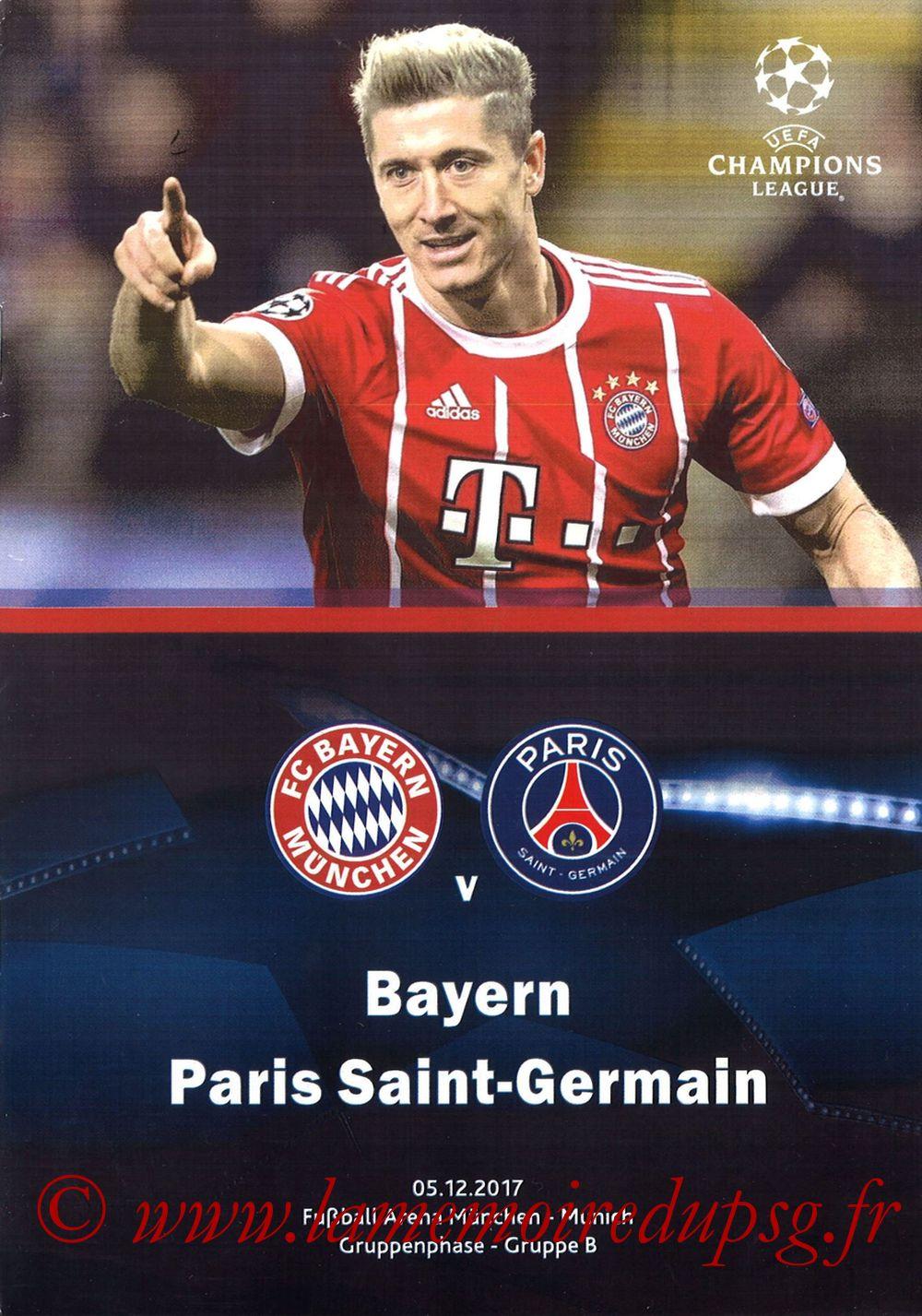 2017-12-05  Bayern Munich-PSG (6ème Poule C1, Programme pirate)