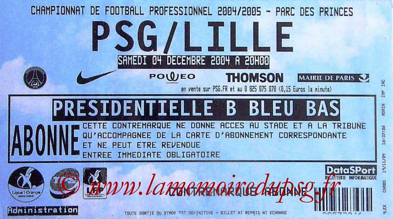 2004-12-04  PSG-Lille (17ème L1)