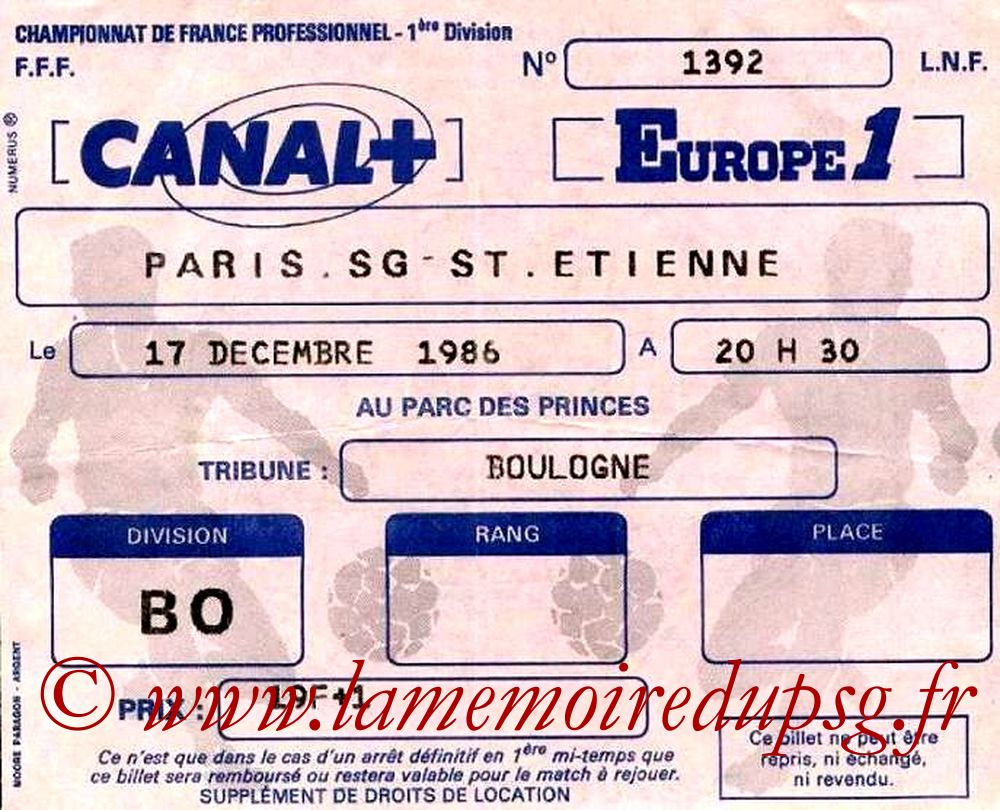 1986-12-17  PSG-Saint Etienne (22ème D1)