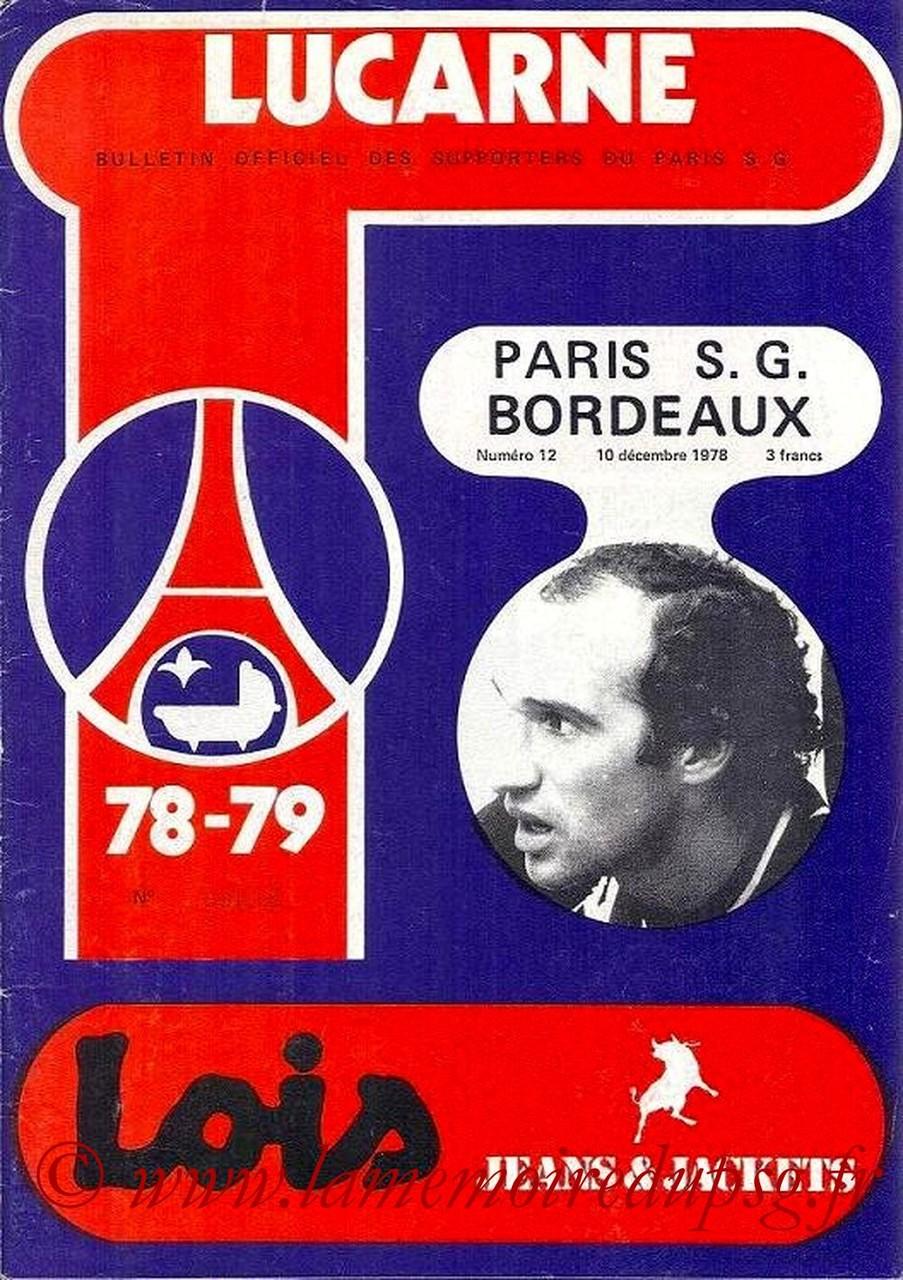 1978-12-10  PSG-Bordeaux (23ème D1, Lucarne N°12)