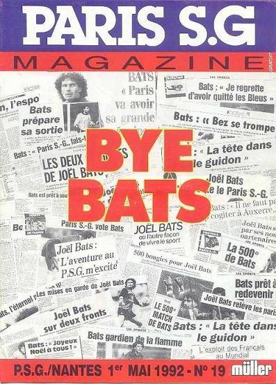 1992-05-01  PSG-Nantes (38ème D1, Paris SG Magazine N°19)