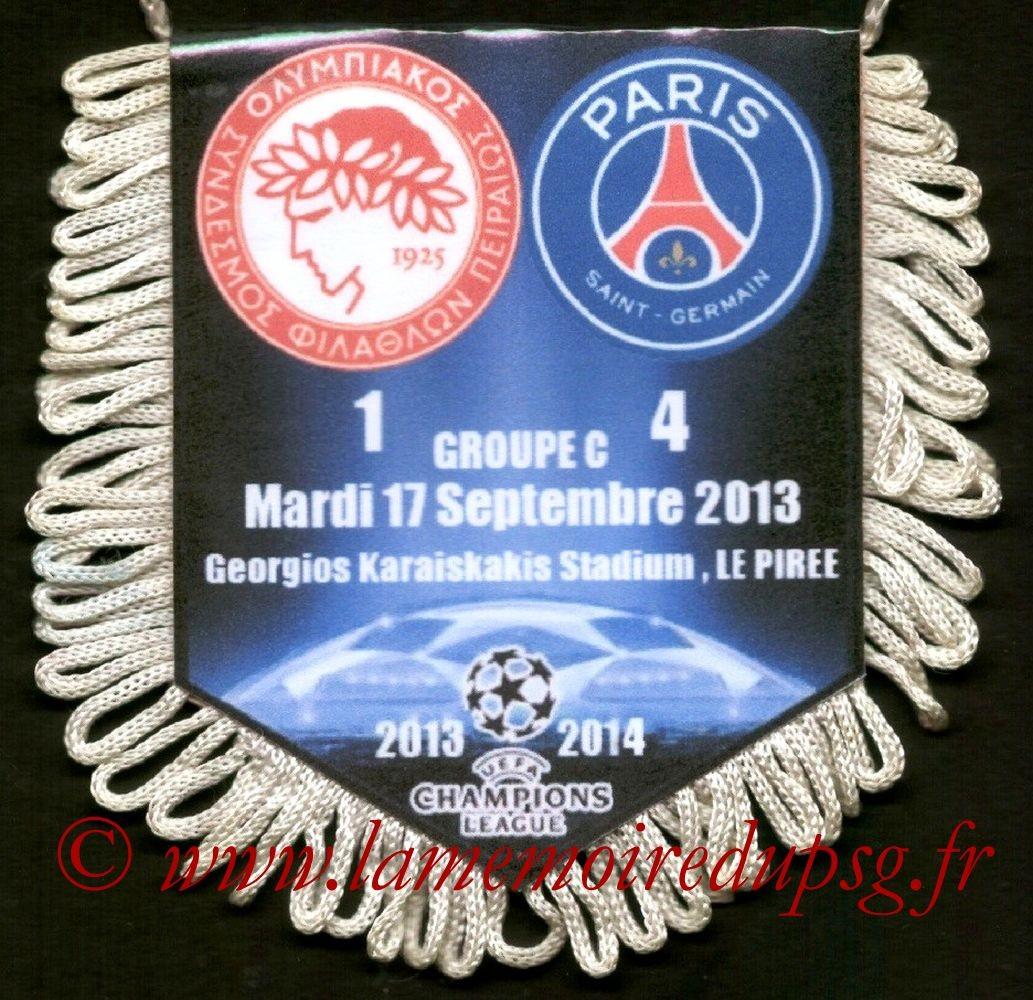 2013-09-17  Olympiakos-PSG (1ère C1)