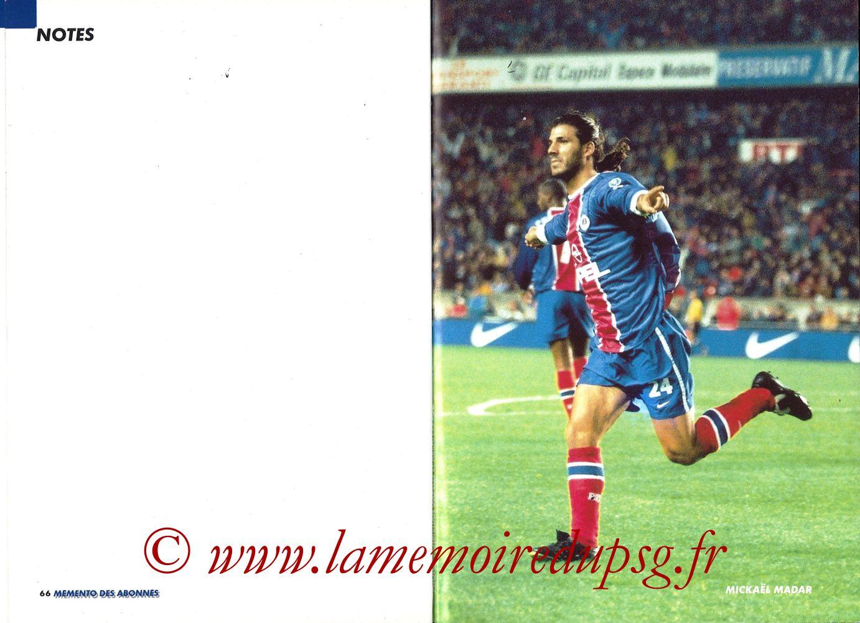 1999-00 - Guide de la Saison PSG - Pages 66 et 67