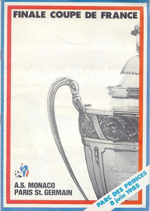 1985-06-08  PSG-Monaco (Finale CF au Parc des Princes, Officiel FFF)