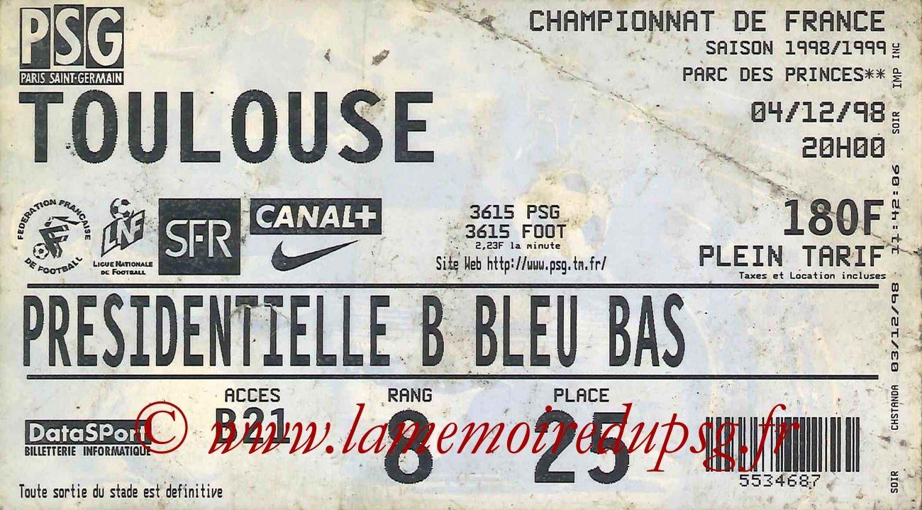 1998-12-04  PSG-Toulouse (17ème D1)