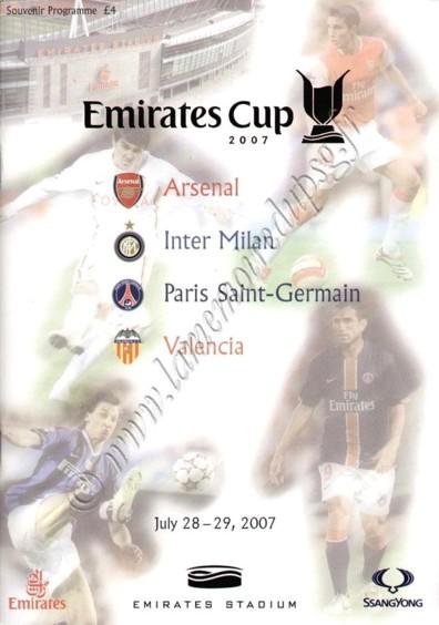2007-07-28 et 29  Arsenal-PSG et PSG-Valence (Emirates Cup, Programme officielle)