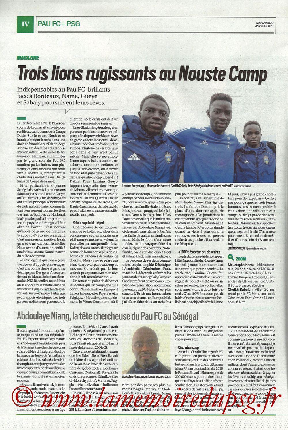 2020-01-29  Pau-PSG (8ème CF, Pyrenees Sports) - Page 04