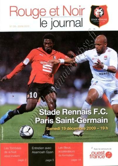 2009-12-19  Rennes-PSG (18ème L1, Rouge et Noir N°9)