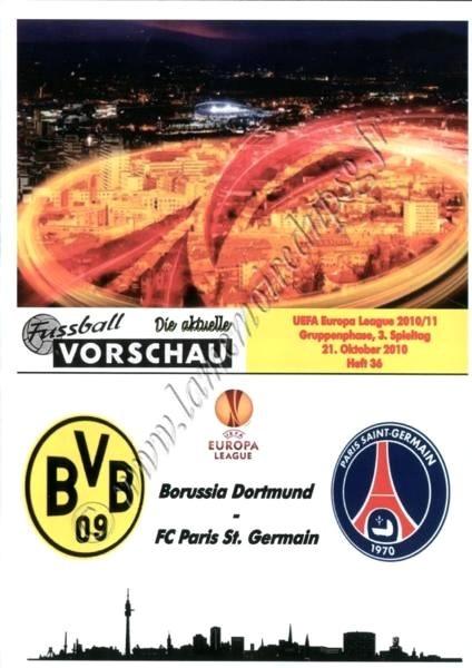 2010-10-21  Borussia Dortmund-PSG (3ème poule C3, Programme pirate)