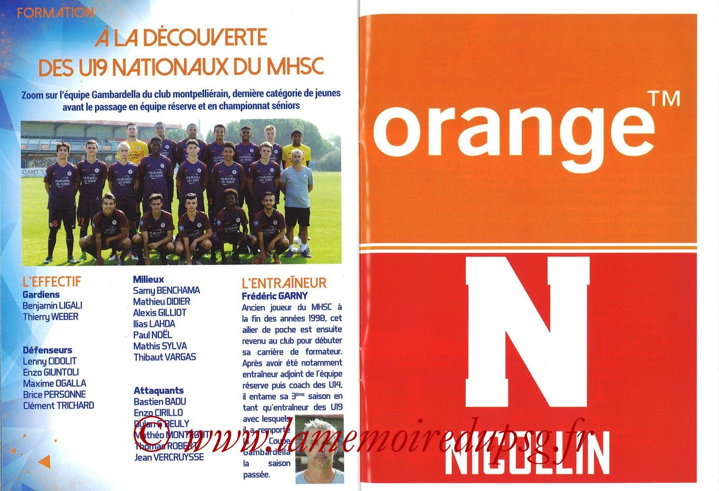 2017-09-23  Montpellier-PSG (7ème L1, L'Echo de la Mosson N°4) - Pages 26 et 27