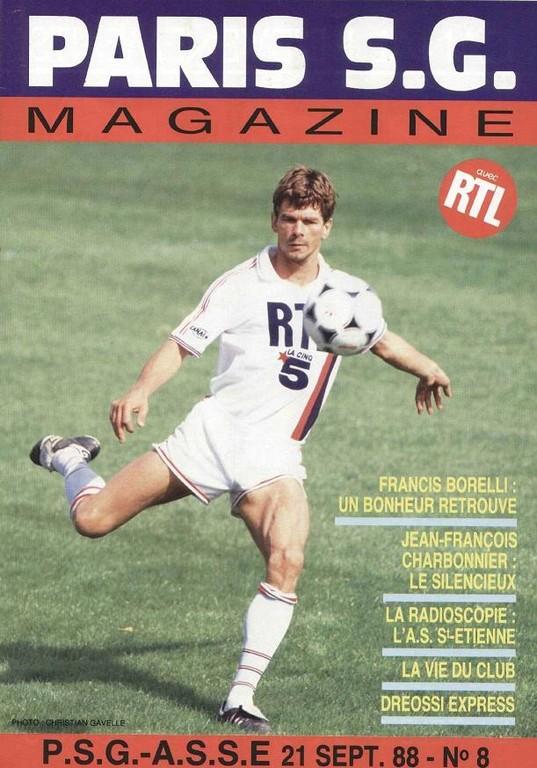 1988-09-21  PSG-Saint Etienne (13ème D1, Paris SG Magazine N° 8)