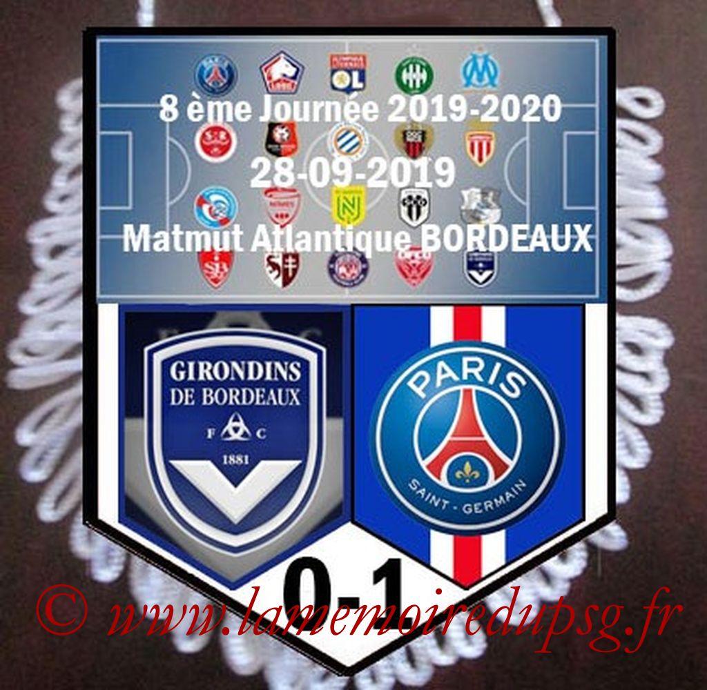 2019-09-28  Bordeaux-PSG (8ème L1)