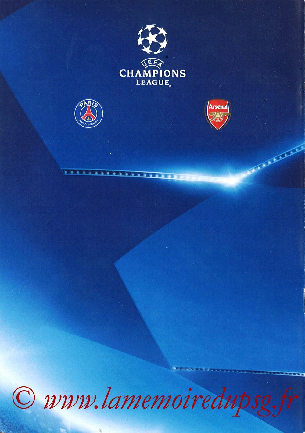 2016-09-13  PSG-Arsenal (1ère Poule C1, Programme pirate) - Page 08