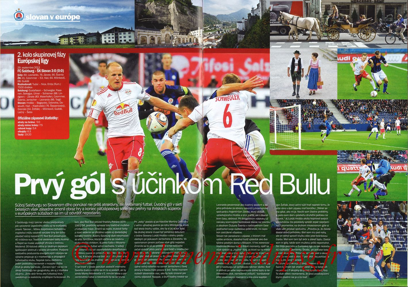 2011-10-20  Slovan Bratislava-PSG (3ème C3, Slovan N°4) - Pages 16 et 17