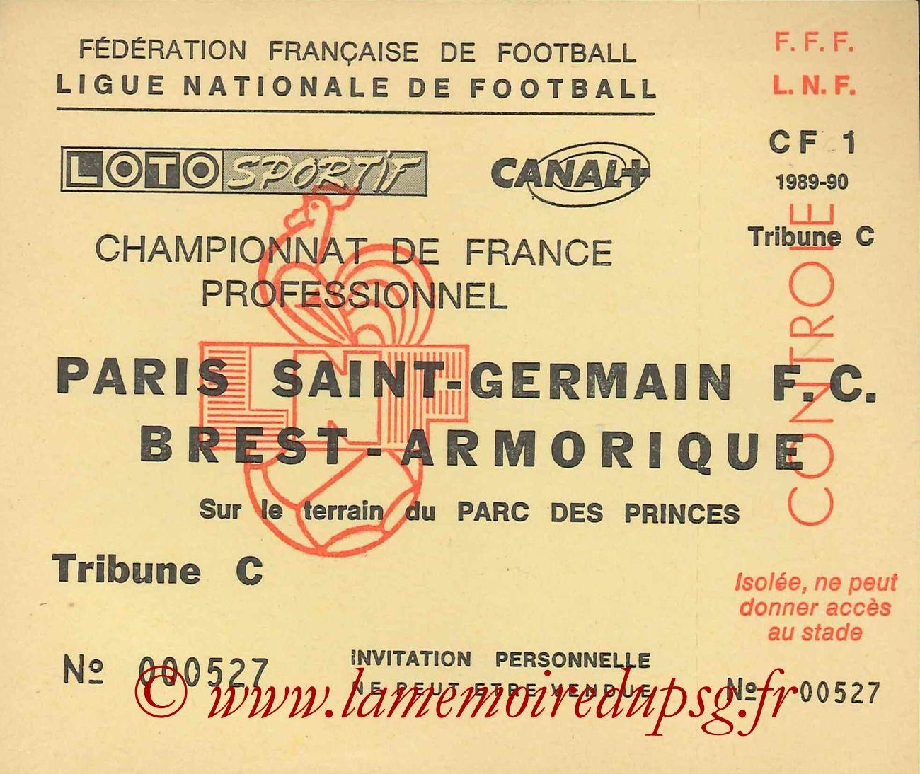 1990-02-11  PSG-Brest (25ème D1, Invitation)