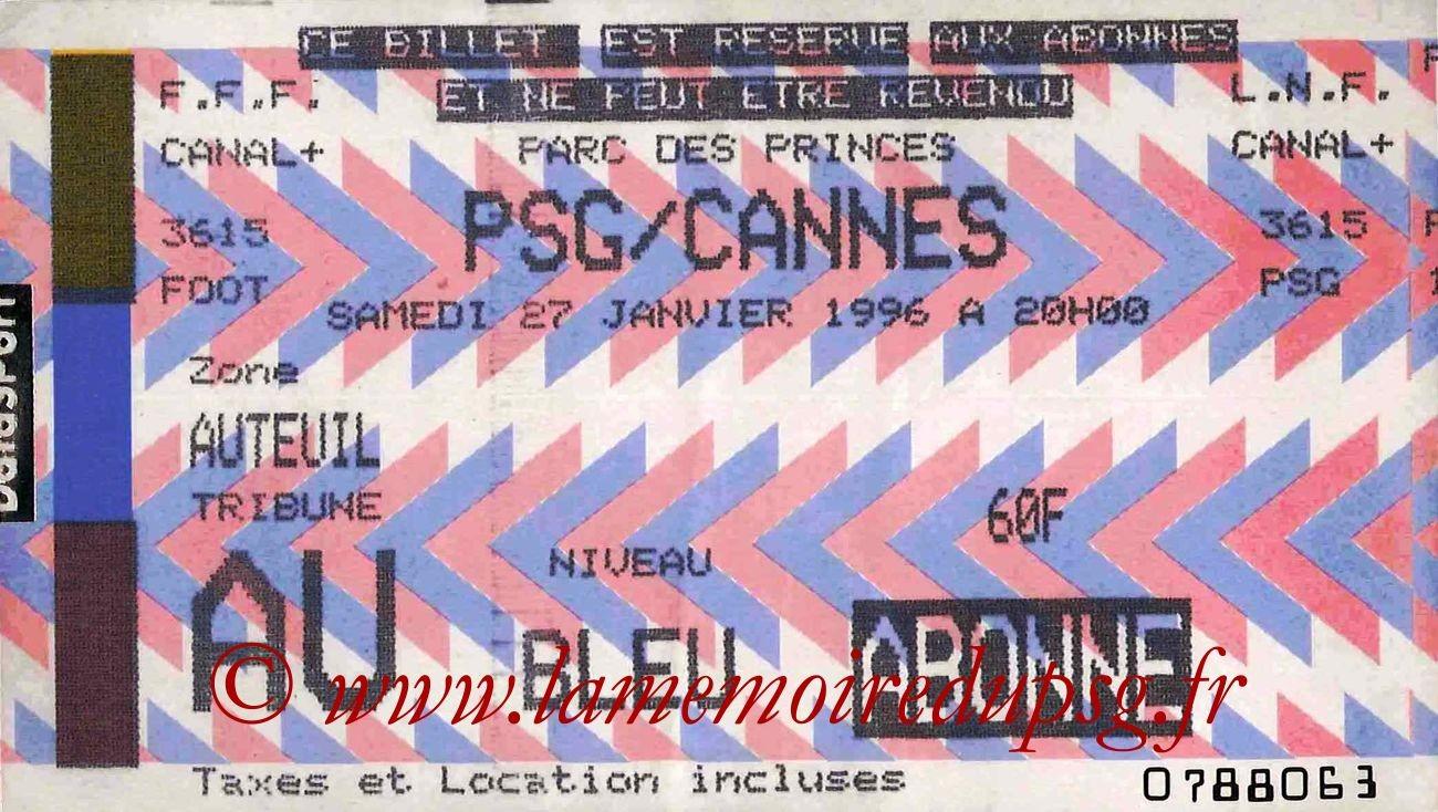 1996-01-27  PSG-Cannes (25ème D1, bis)