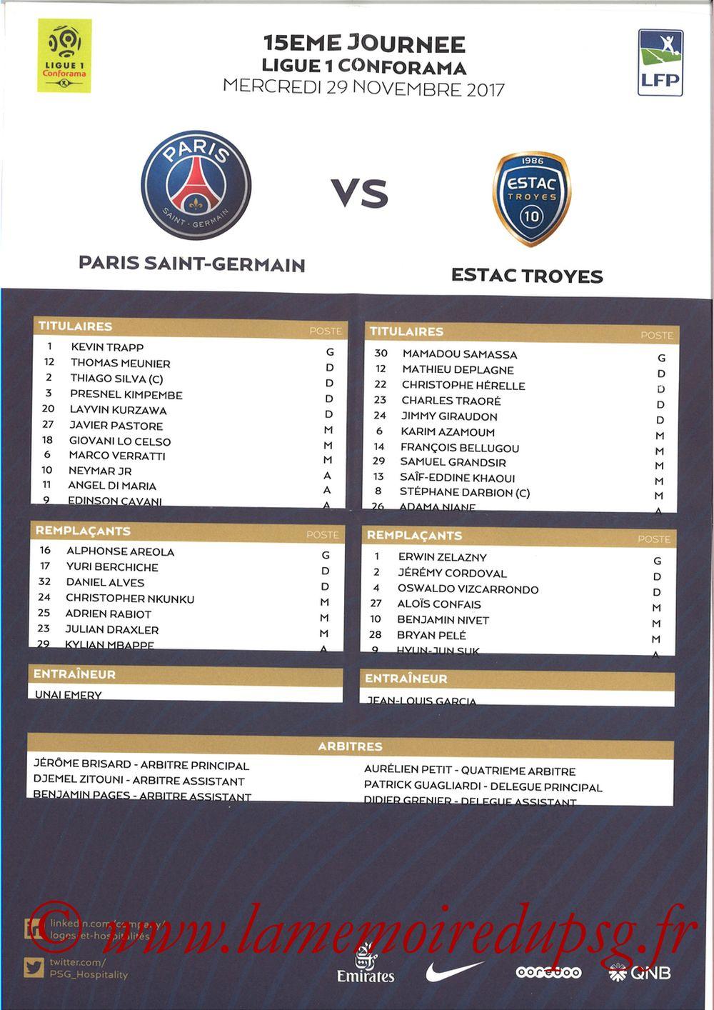 2017-11-29  PSG-Troyes (Feuille de match)