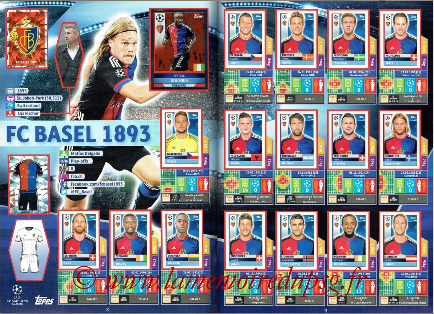 2016-17 - Topps UEFA Champions League Stickers - Pages 08 et 09 - FC Bale
