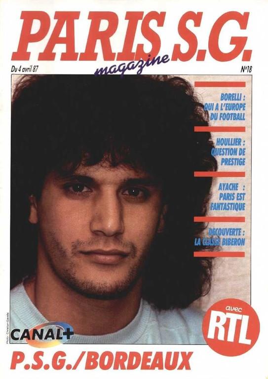 1987-04-04  PSG-Bordeaux (30ème D1, Paris SG Magazine N°18)