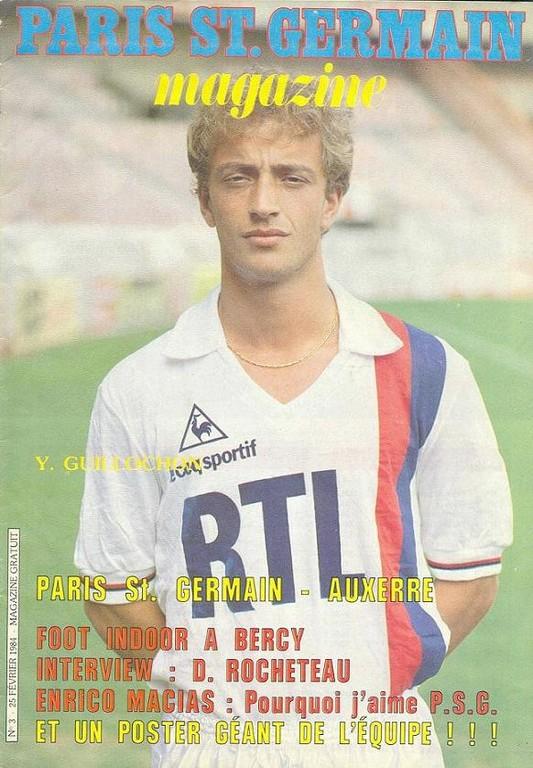 1984-02-25  PSG-Auxerre (28ème D1, Paris St Germain Magazine N°3)
