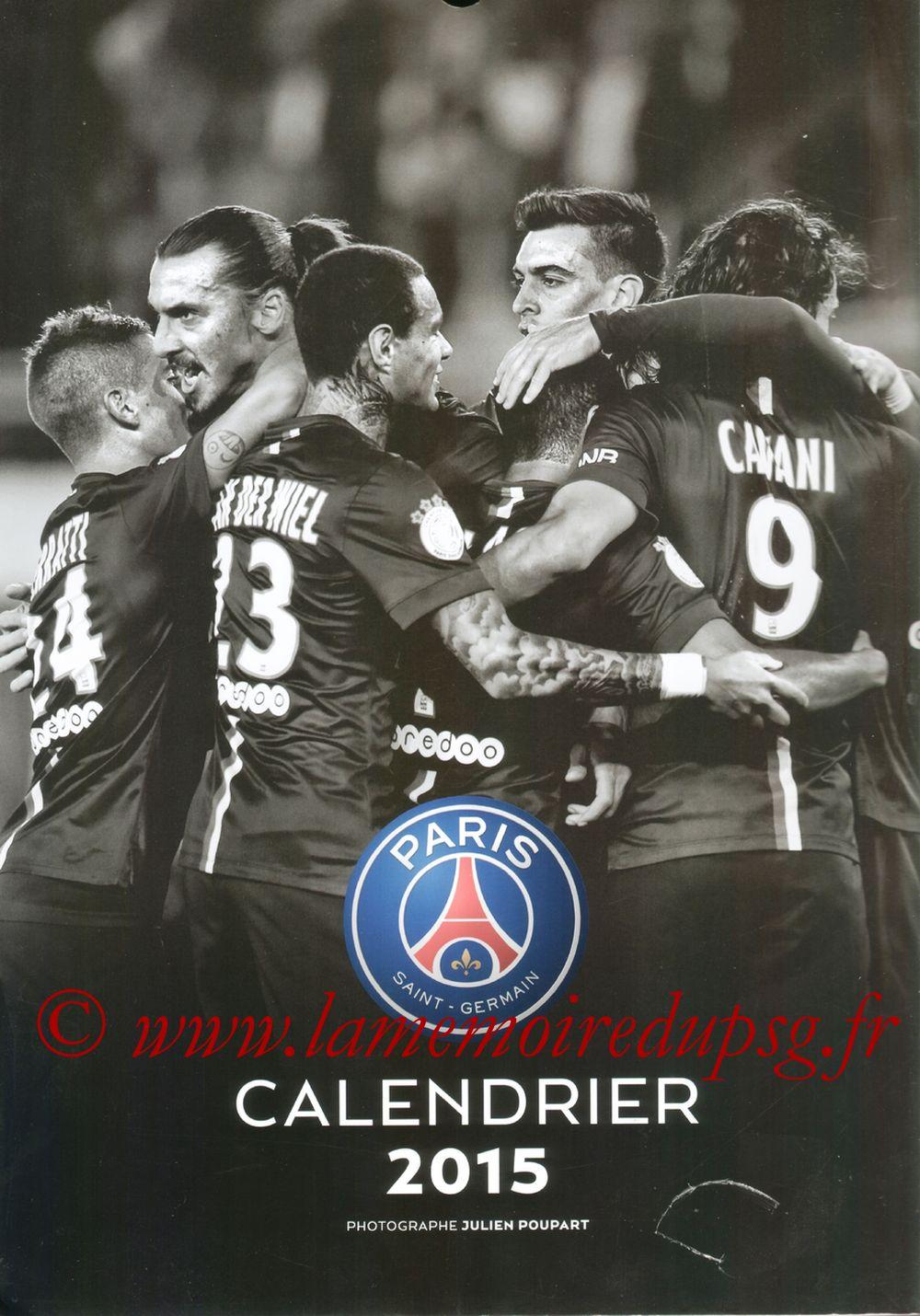 Calendrier PSG 2015 - Couverture