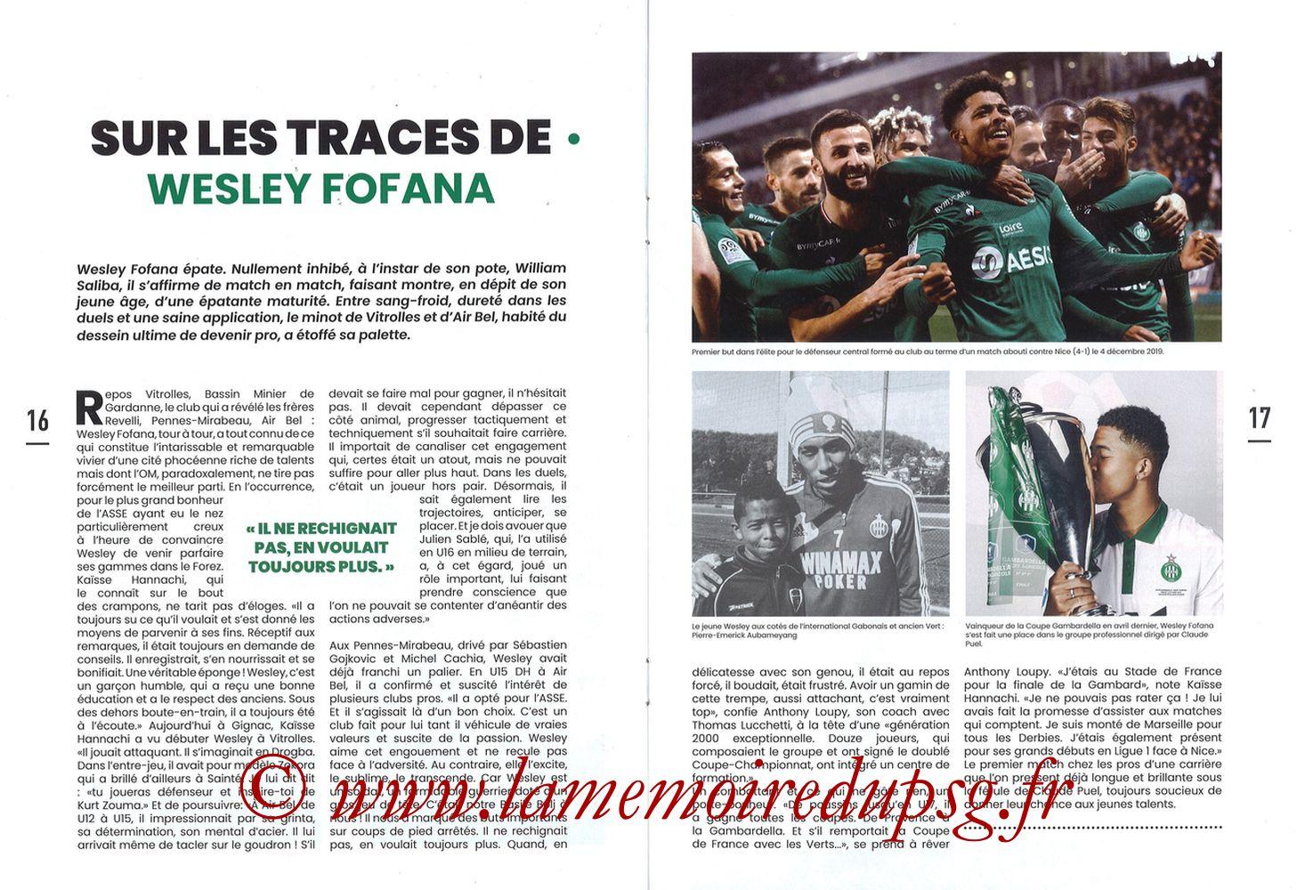 2019-12-15  Saint-Etienne (18ème L1, Maillot Vert N°31) - Pages 16 et 17
