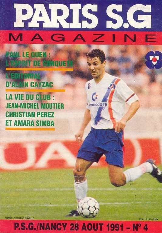 1991-08-28  PSG-Nancy (8ème D1, Paris SG Magazine N°4)