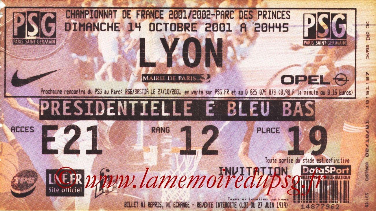 2001-10-14  PSG-Lyon (10ème D1)