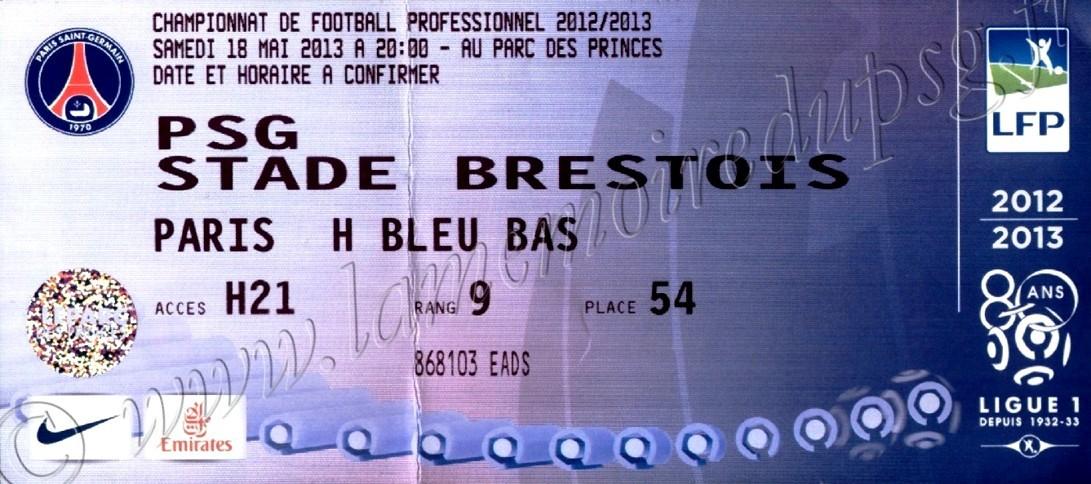 2013-05-18  PSG-Brest (37ème L1)