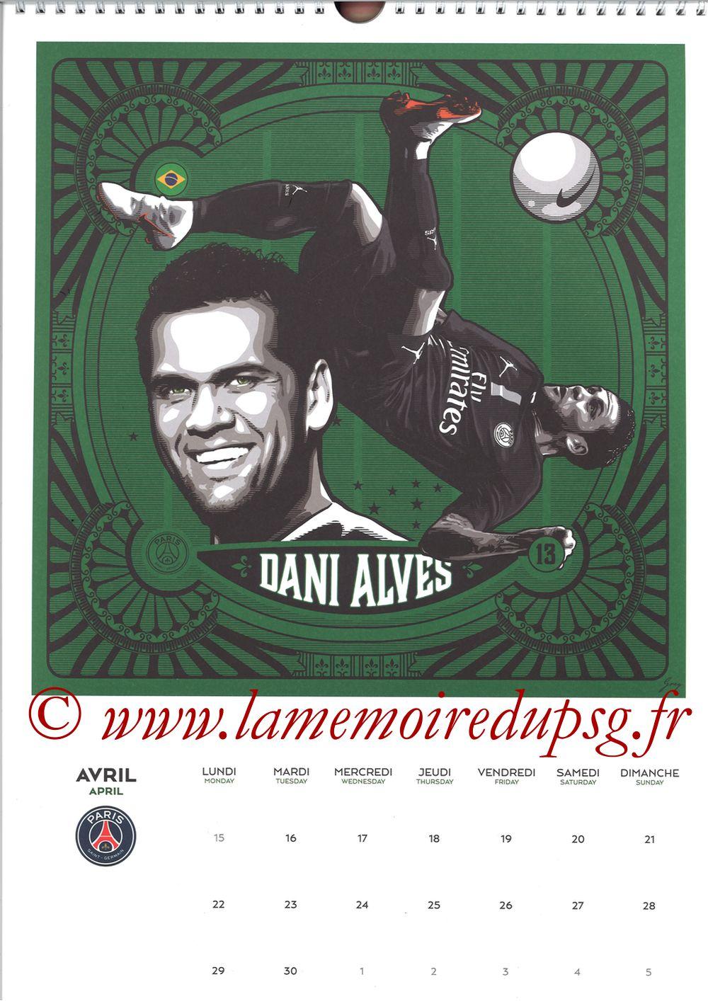 Calendrier PSG 2019 - Page 08 - Dani ALVES
