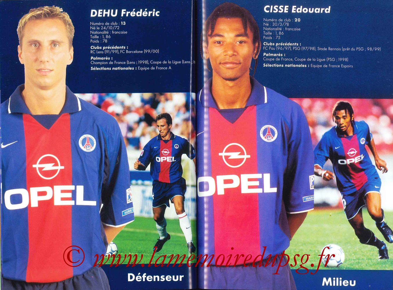 2000-01 - Guide de la Saison PSG - Pages 46 et 47