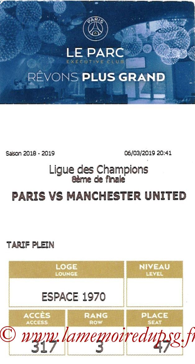 2019-03-06  PSG-Manchester United (8ème C1 retour, E-ticket Executive club)