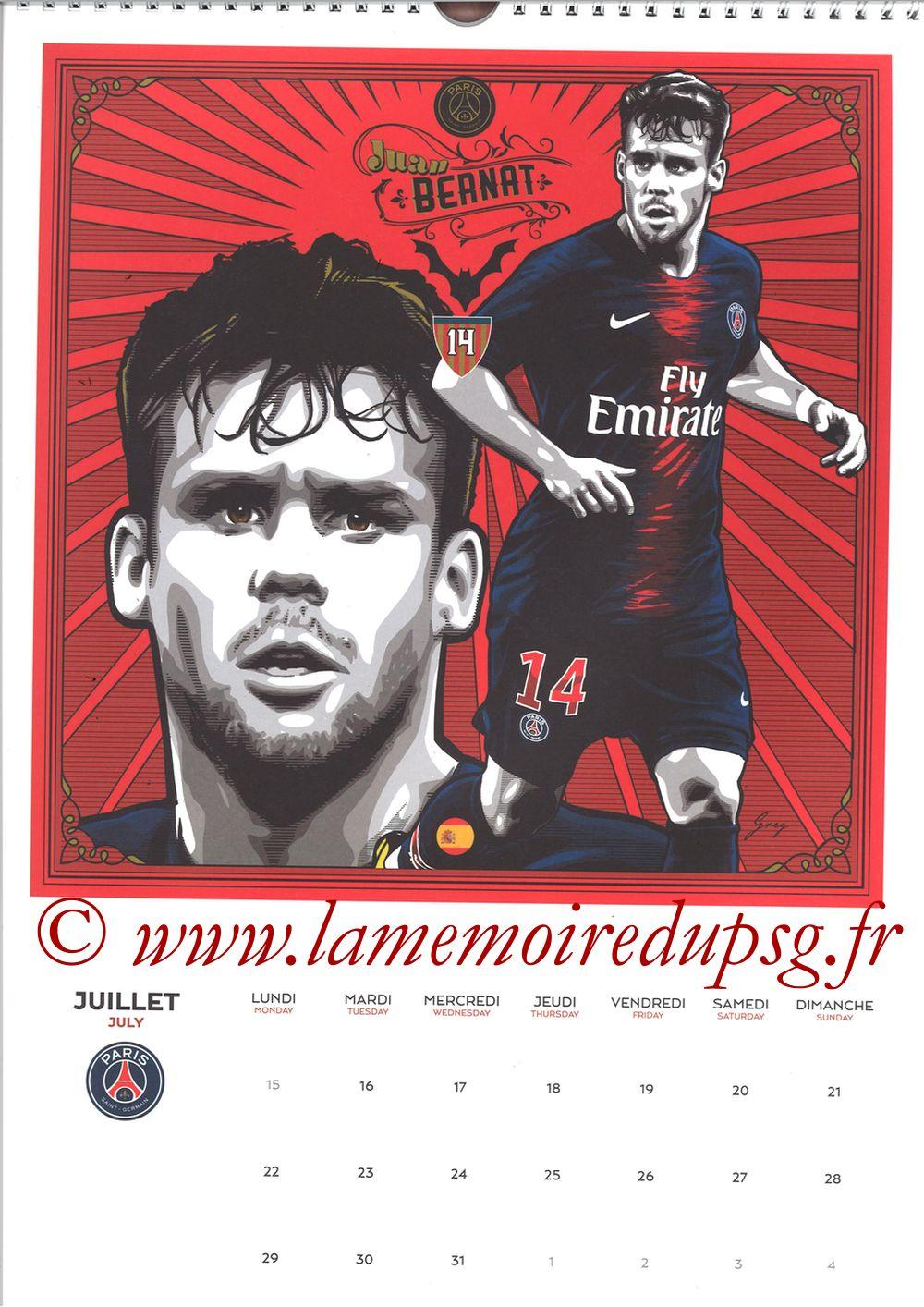 Calendrier PSG 2019 - Page 14 - Juan BERNAT