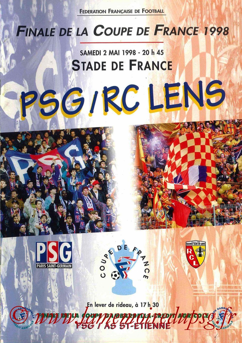 1998-05-02  PSG-Lens (Finale CF à Saint-Denis, Programme officiel FFF)