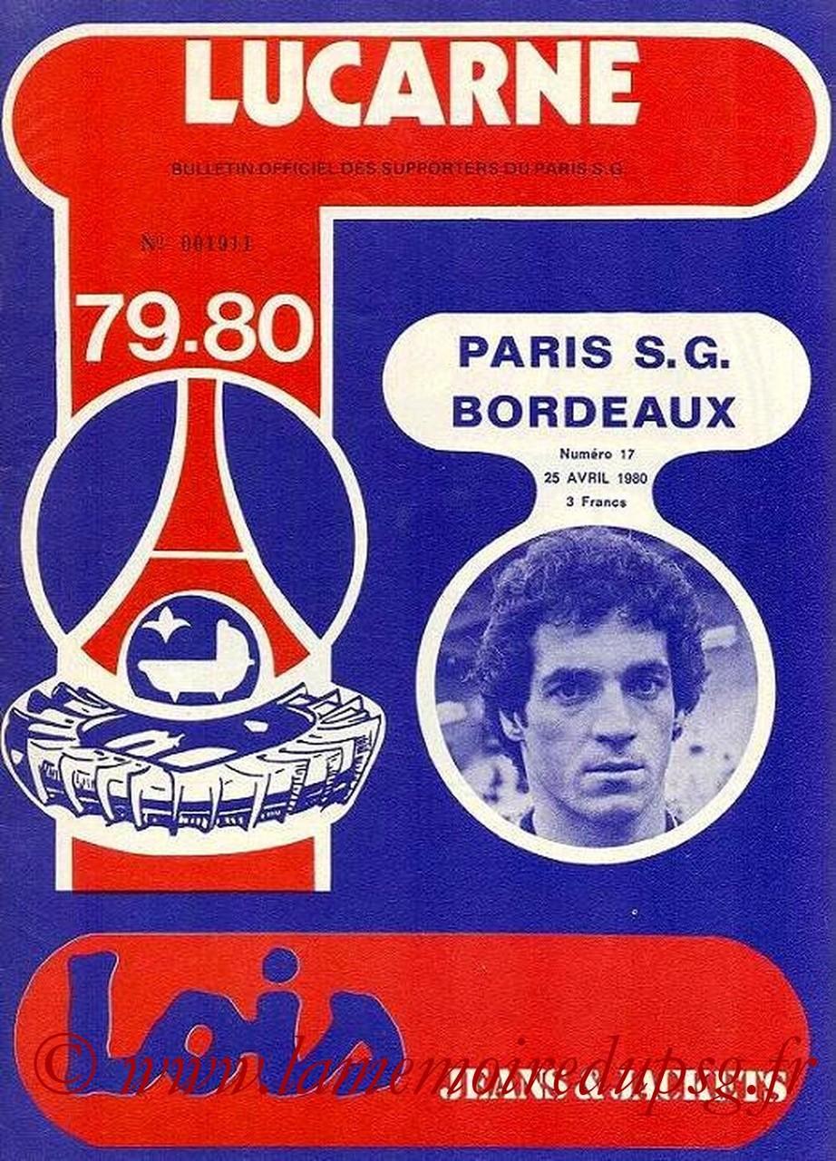1980-04-25  PSG-Bordeaux (34ème D1, Lucarne N°17)